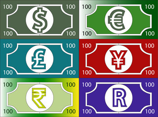 vector currency note money business concept