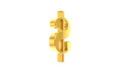 Dolar amerykański złoty animacja