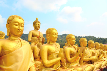 Gloden Buddhist state in Buddhist Park in memory of magha Puja N