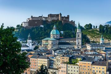 Hohensalzburg Castle (Festung Hohensalzburg) in Salzburg, Austri