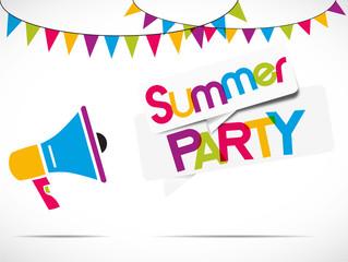 megaphone : summer party