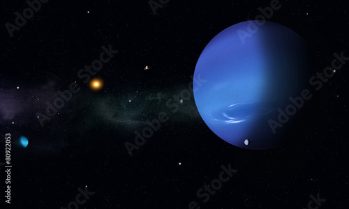 Space Journey to Neptune - 80922053