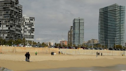 Surfing Day In Barcelona