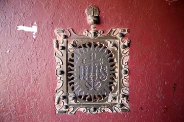 IHS(Iesus Hominum Salvator)Basilica of Bom Jesus,Goa,India