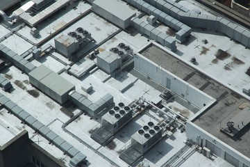 Air conditioning aerial view