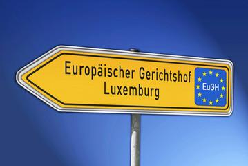 Wegweiser Europäischer Gerichtshof (EuGH)
