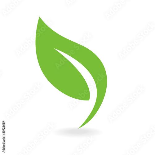 fototapeta na ścianę Eco ikony zielony liść