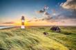 Leinwanddruck Bild - Leuchtturm in List auf Sylt am Ellenbogen