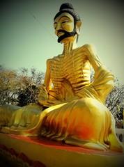 starving buddha image