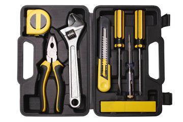 Tool case with tools