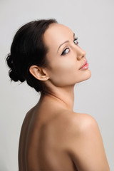 portrait of beautiful brunet women