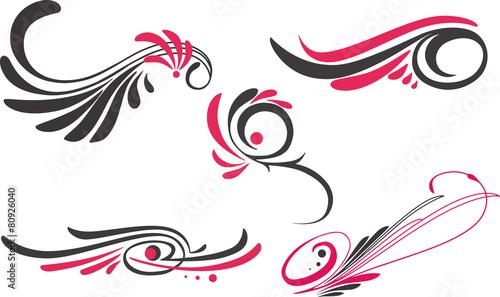 5 pinstripe ornaments - 80926040