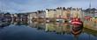 Leinwanddruck Bild - Port de la ville de Honfleur en Normandie