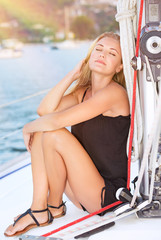 Relaxation on sailboat