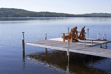 over water pier facing lake
