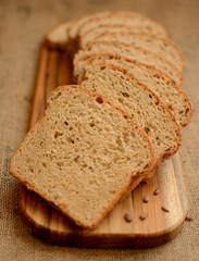 Healthy multigrain bread.