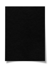 black stick note paper on white background