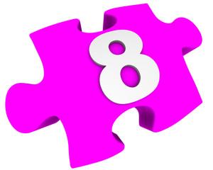 Цифра 8. Пазл