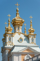Peter and Paul church at Peterhof Grand Palace, Russia
