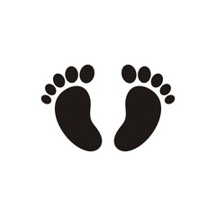Baby footprint icon..Baby footprint icon
