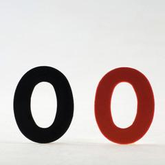 Schwarze und rote Null