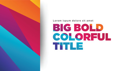 Big colorful title content