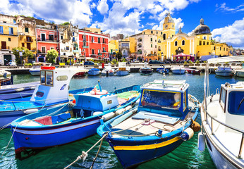 Procida , beautiful colorful small island of Italy