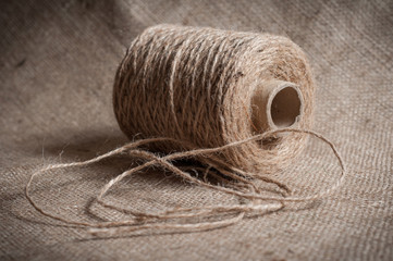 role of twine cord on a sackcloth