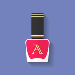 Nail polish, nail varnish icon. Flat style