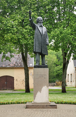 Monument to Atis Kronvalds. Latvia