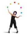 Leinwandbild Motiv Clown like a juggler