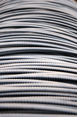 Steel bars used in construction, Steel bars close- up background