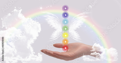 Healing Hand and The Seven Chakras - 80934048