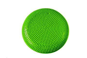 Green balance cushion for fitness and yoga