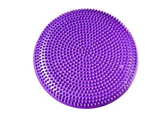 Purple balance cushion for fitness and yoga