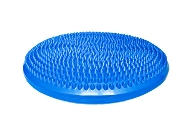 Blue balance cushion for fitness and yoga