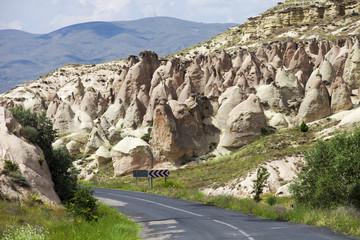 Typical rock formations, Cappadocia, Turkey