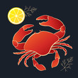 Crab with lemon and dill - 80935263