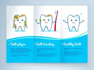 Dental care leaflet design.
