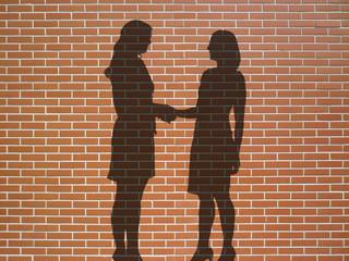 women handshake