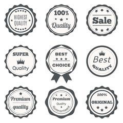 Vector vintage badges. Best choice, premium quality, highest qua