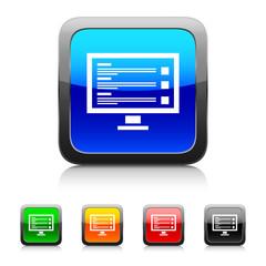 White Monitor icon