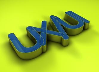 UX/UI 3D Title
