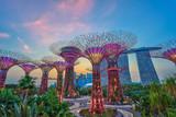 sunset at Singapore city