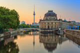 sunrise at Museum island and Alexanderplatz at Berlin, Germany