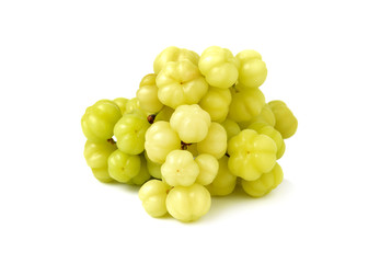 star gooseberry isolated on white background