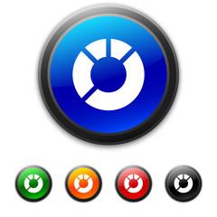 White Donut Chart icon