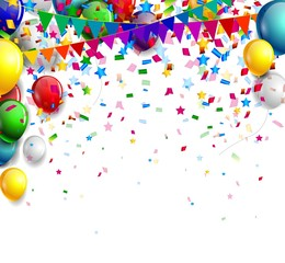 background with colorful balloons