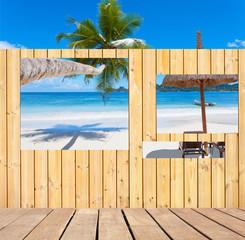 fenêtres ouvertes sur plage des Seychelles