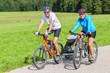fröhliche Radtour ins Grüne
